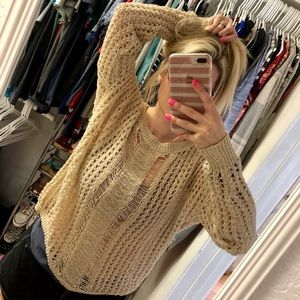 🌸Cute hippie knit flowy top🌸